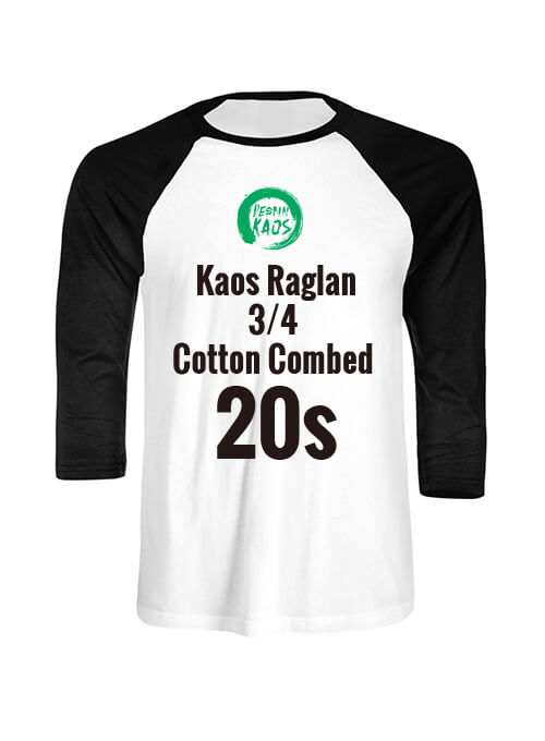 Kids Kaos Raglan 3/4 Cotton Combed 20s