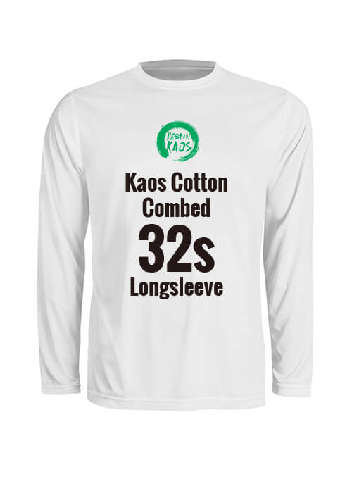 Kids Kaos Cotton Combed 32s Longsleeve