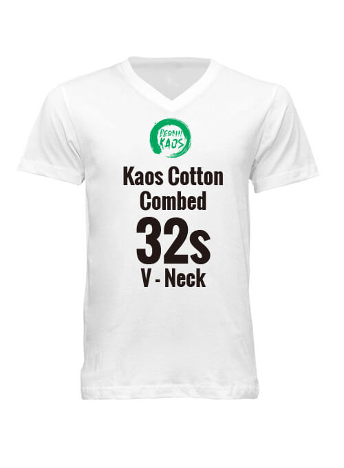 【Kids】V - Neck Kaos Cotton Combed 32s