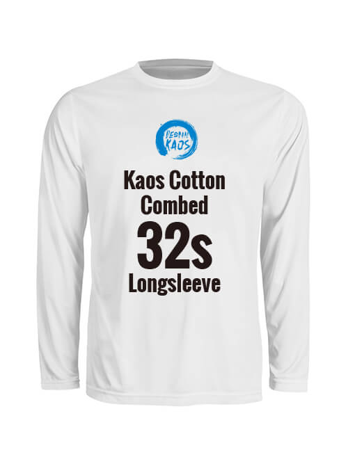 Kaos Cotton Combed 32s Longsleeve