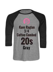 Wooman Kaos Raglan 3/4 Cotton Combed 20s Gray